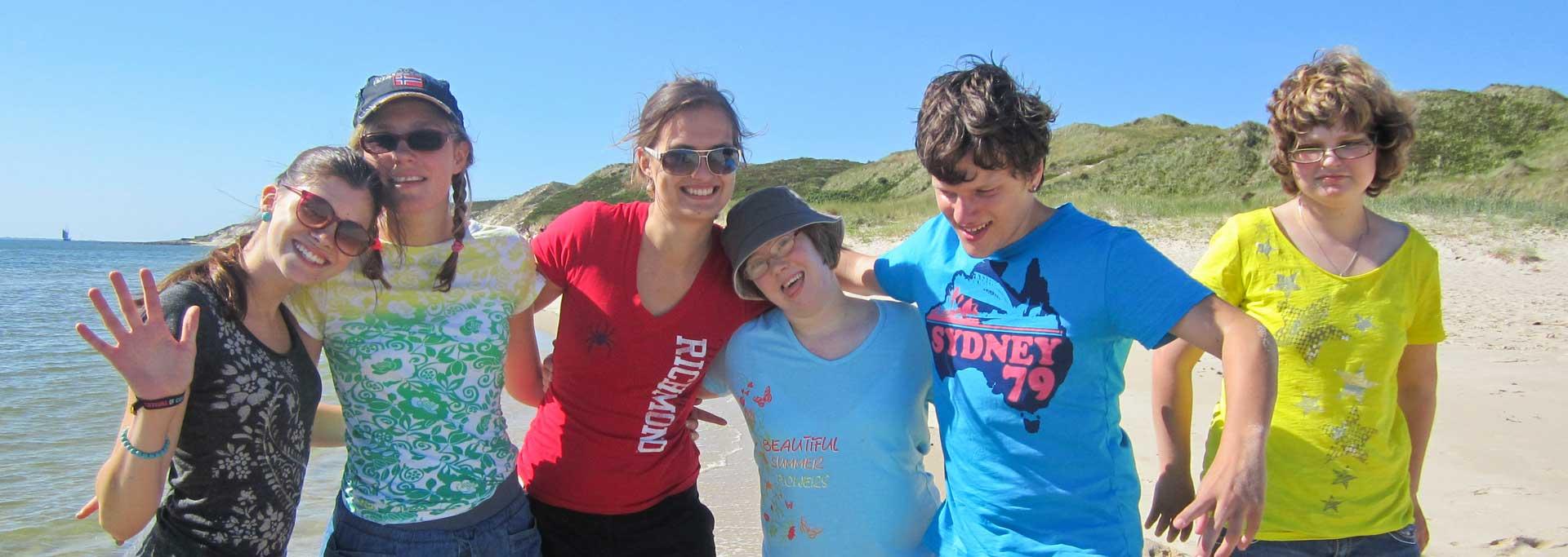 Reisen für Behinderte - Jugendliche mit Down Syndrom